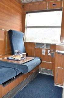 Slaapcoupé autoslaaptrein, omgebouwd naar zitplaatsen ©Treinreiswinkel