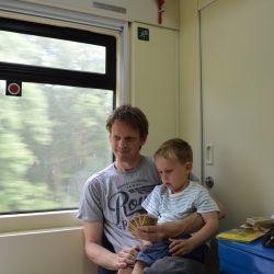 Op weg naar Polen in de Poolse slaapwagen - 5 juli 2014 - Chris Engelsman