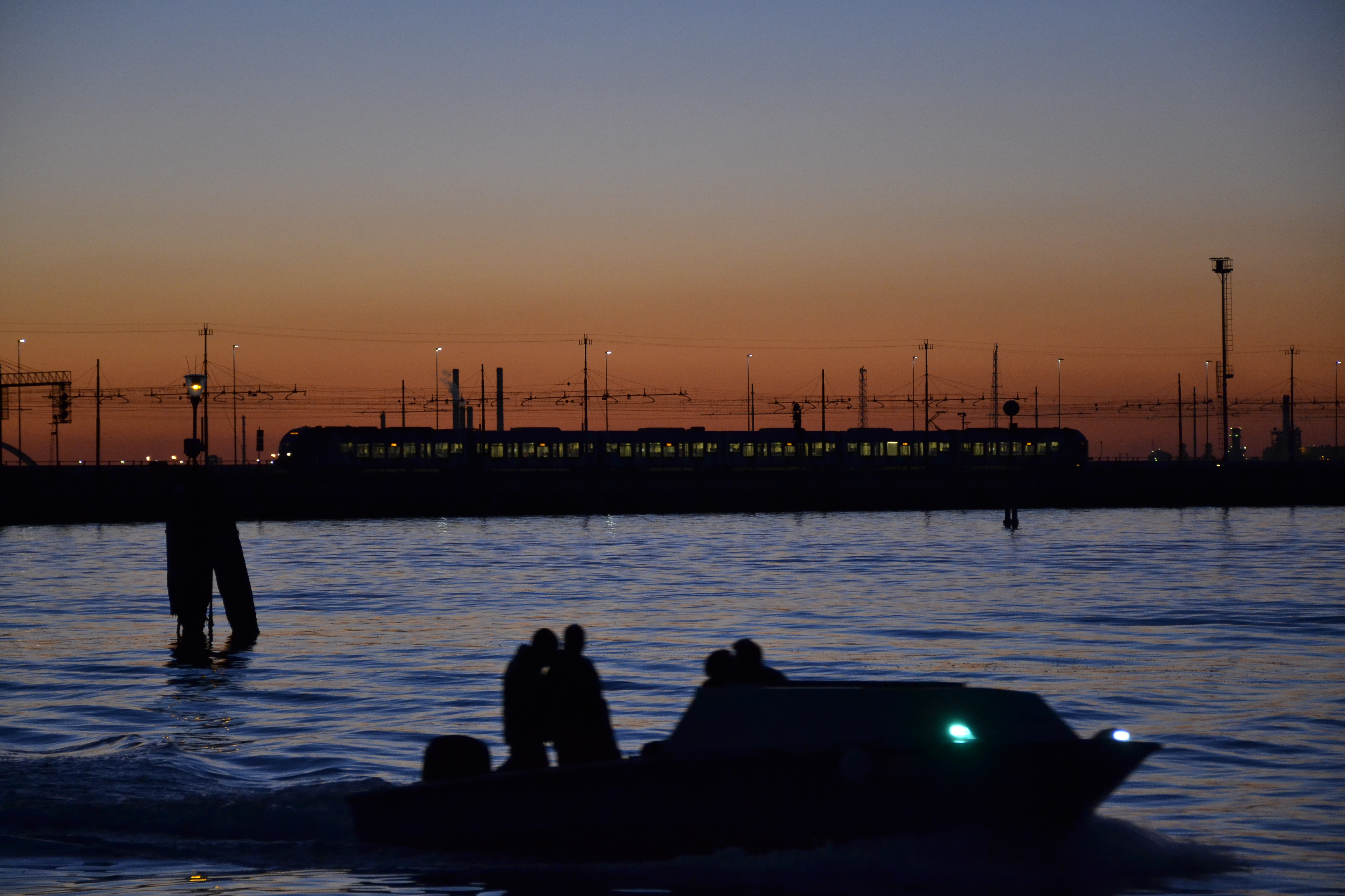 Aankomst Venetië