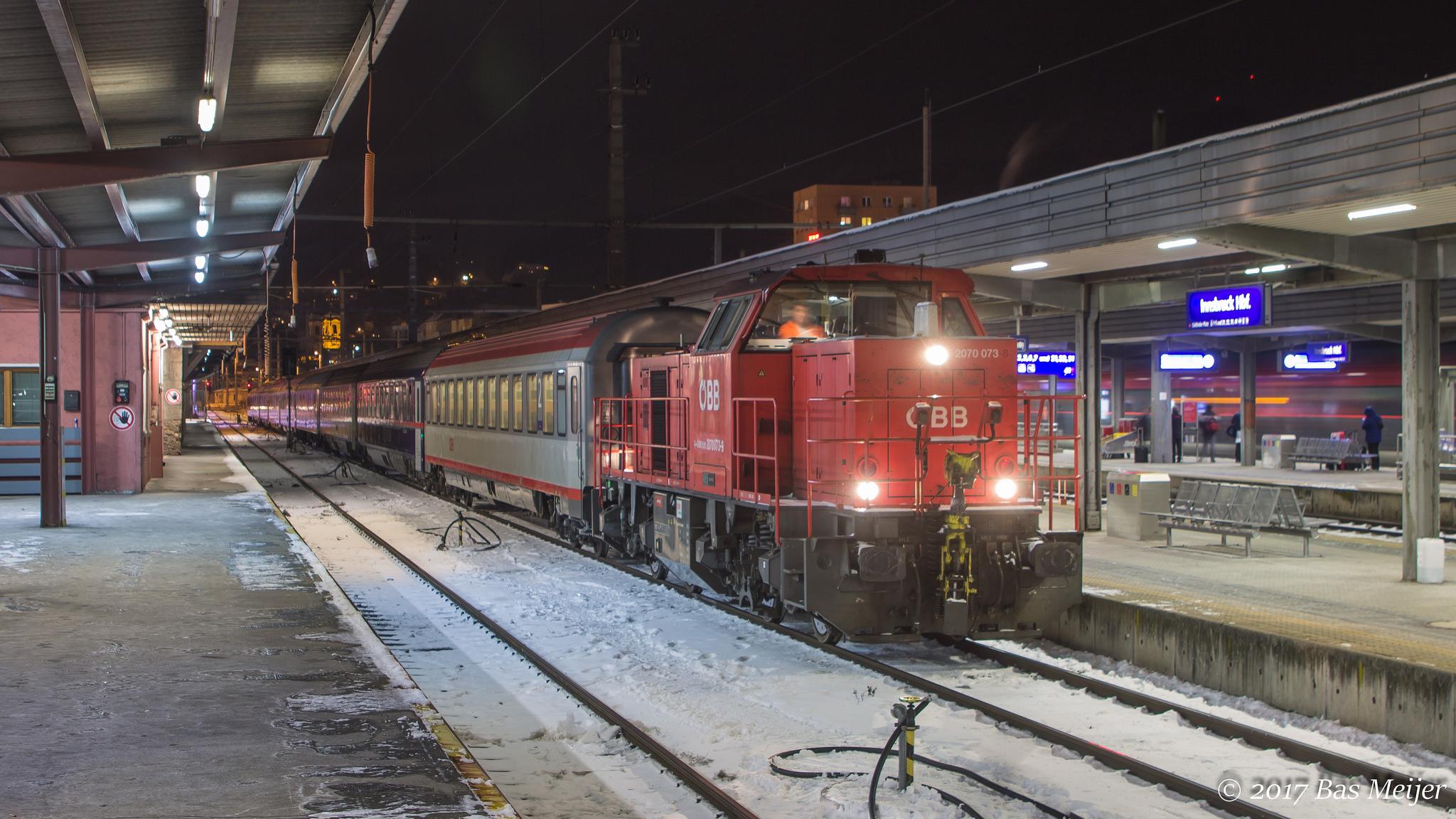 Nightjet wordt klaargezet in Innsbruck ©Bas Meijer