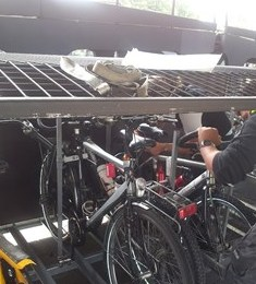 Het fietsenrek op de autowagons ©Treinreiswinkel