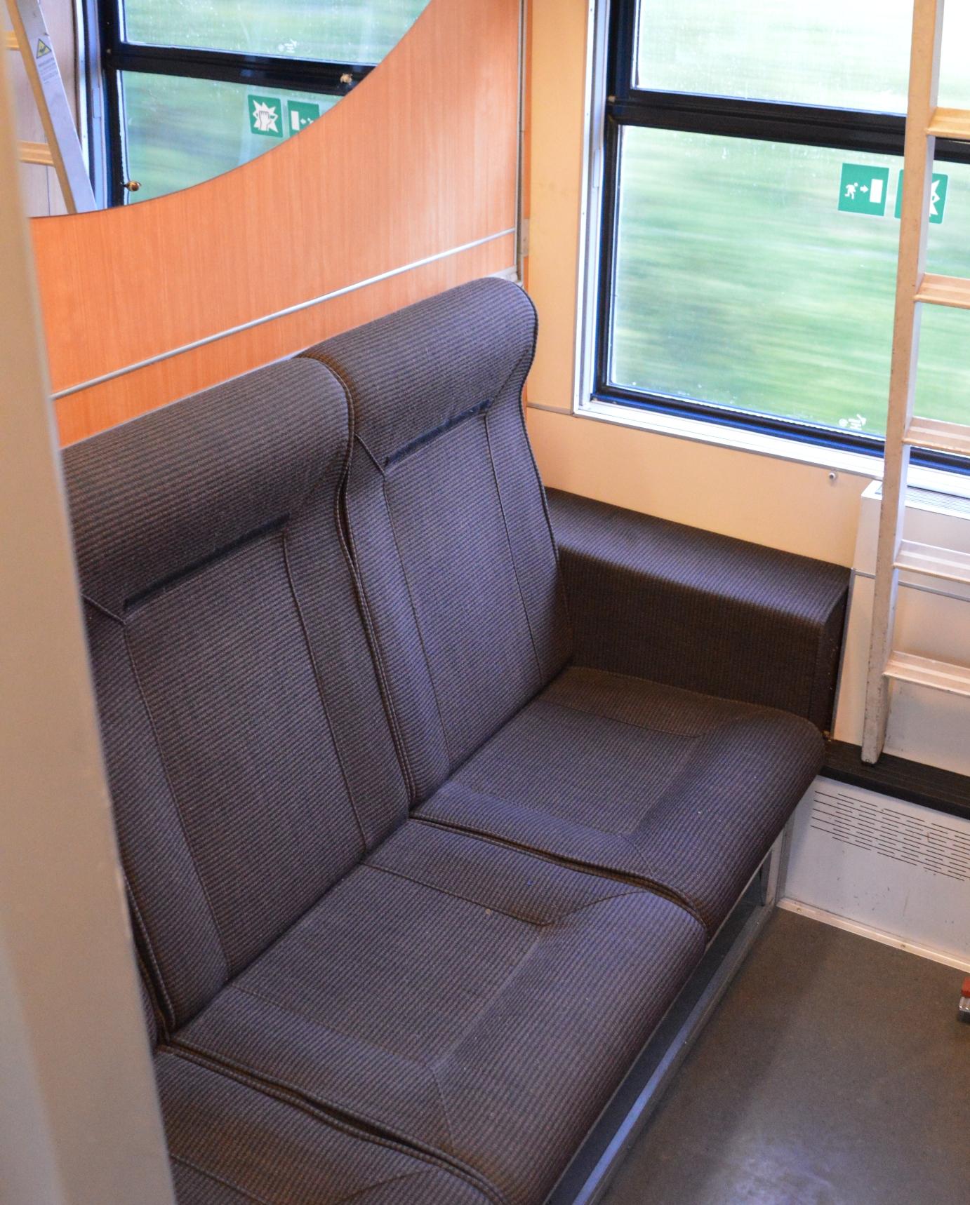 Slaapcoupé Thello, omgebouwd naar zitplaatsen ©Noord West Express