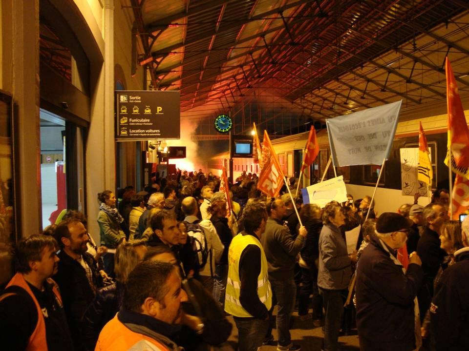 Protesten voor het behoud van de Franse nachttreinen