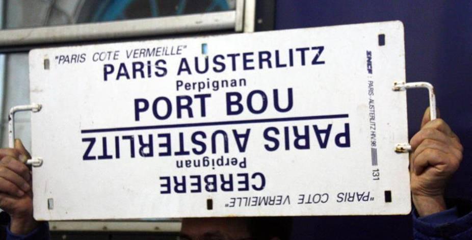 Koersbord Intercités de Nuit Parijs - Portbou/Cerbère
