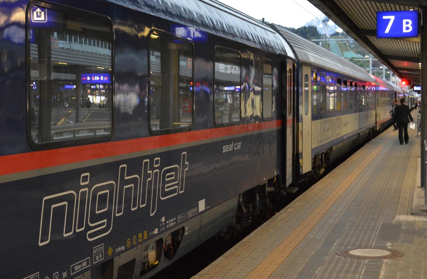 Nightjet Innsbruck - Düsseldorf ©Noord West Express