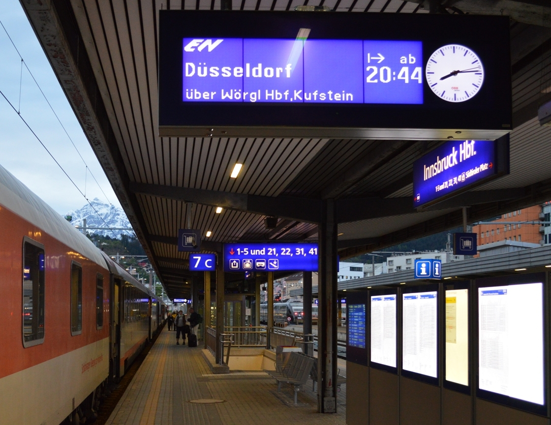 Nightjet vlak voor vertrek uit Innsbruck ©Noord West Express