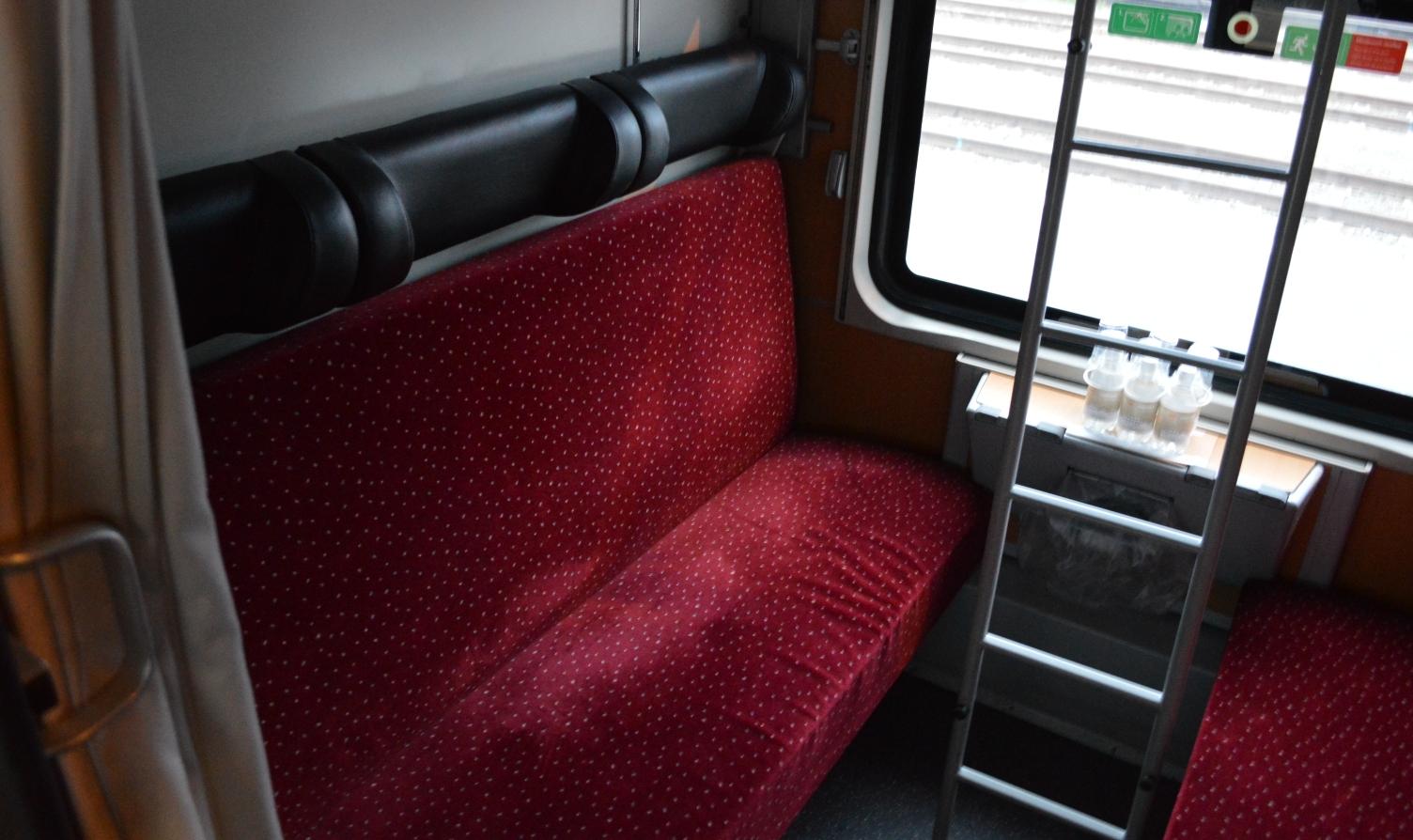 Coupé met ligplaatsen in de Nightjet van de ÖBB ©Noord West Express