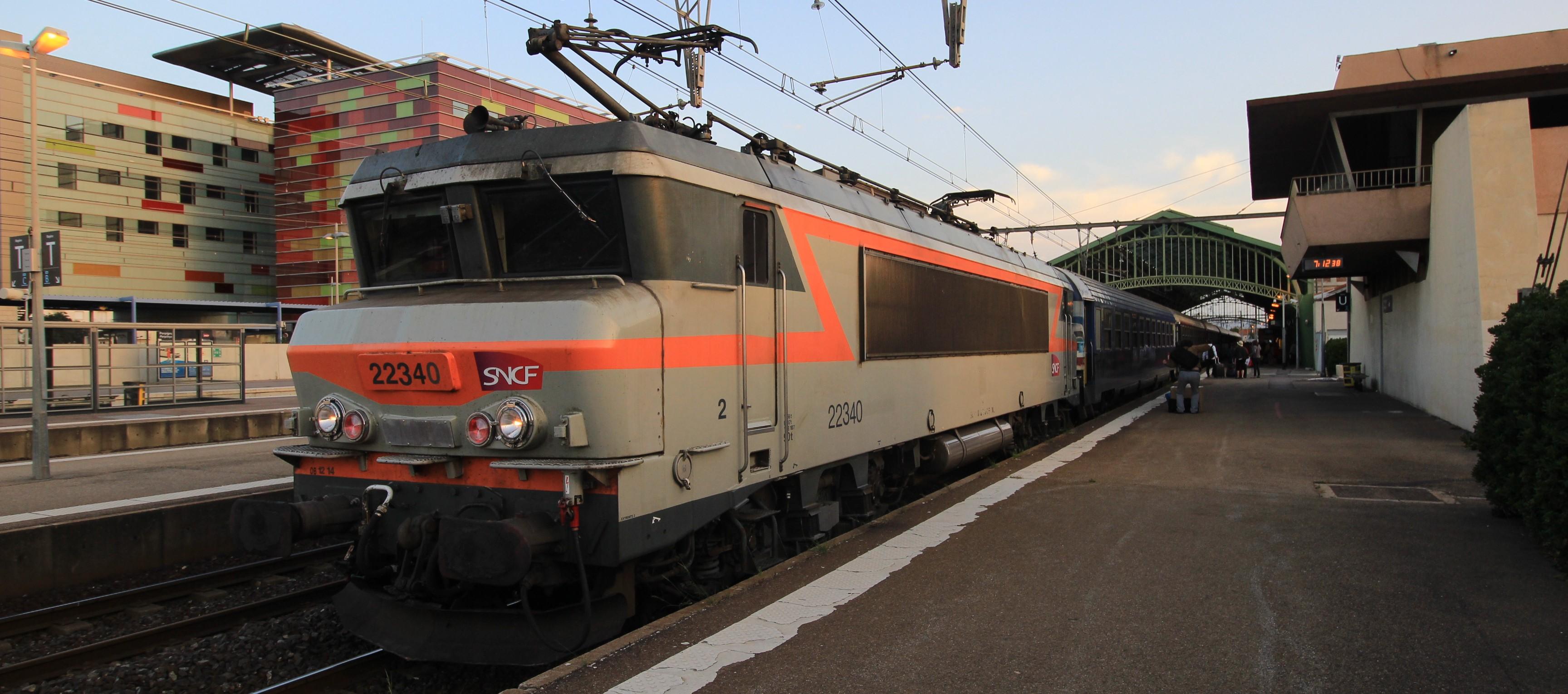 De nachttrein uit Parijs ´s ochtends in Perpignan ©Le Monde en Train