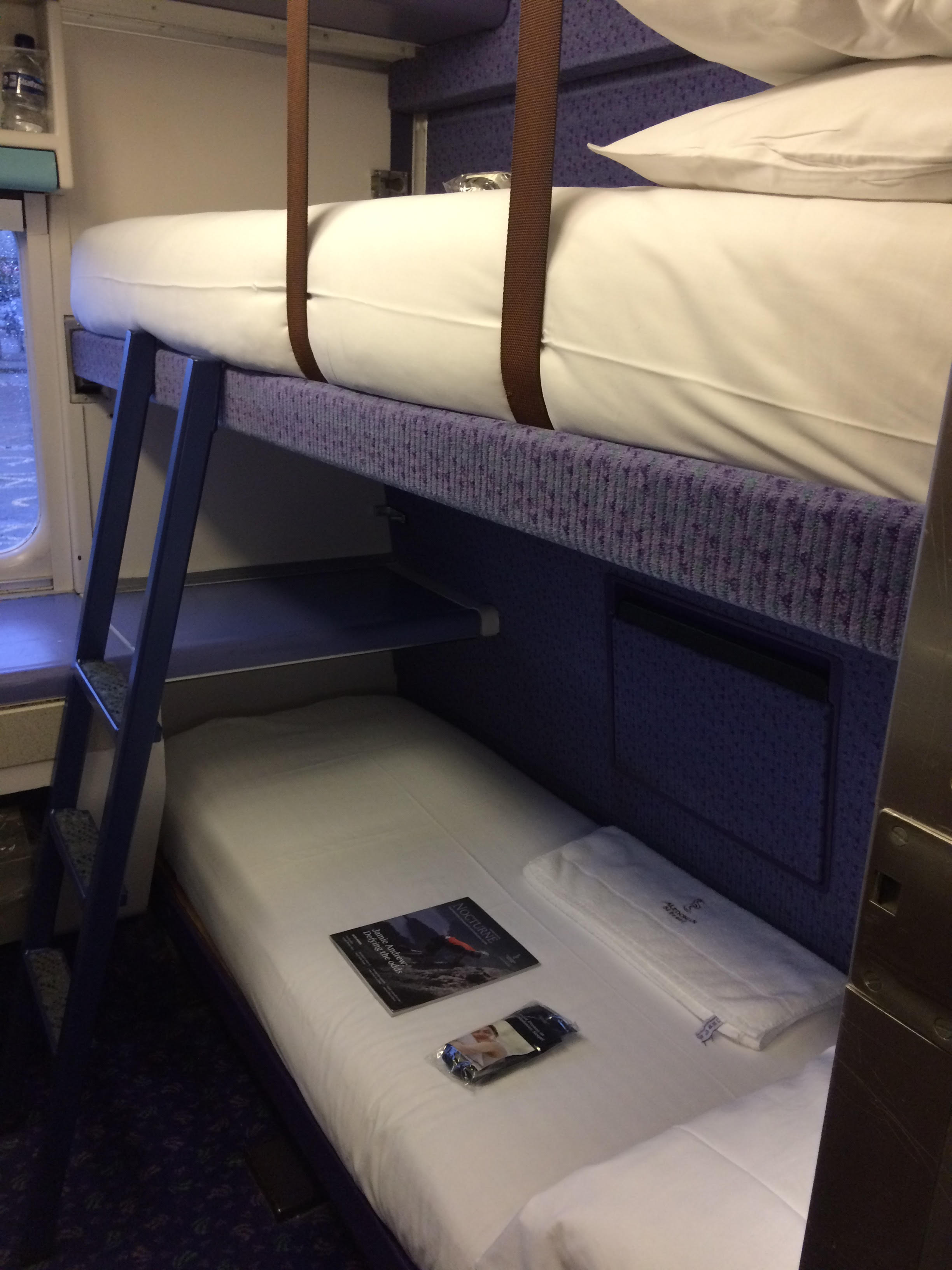 Slaapcoupé in de Caledonian Sleeper ©Noord West Express