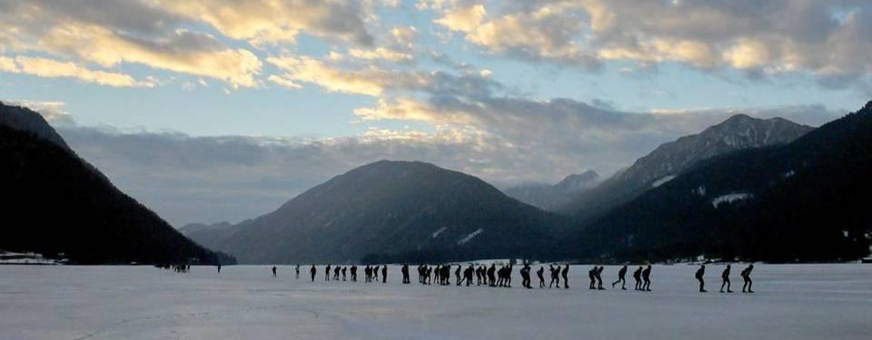 De Alternatieve Elfstedentocht op de Weissensee ©Stichting Wintersporten