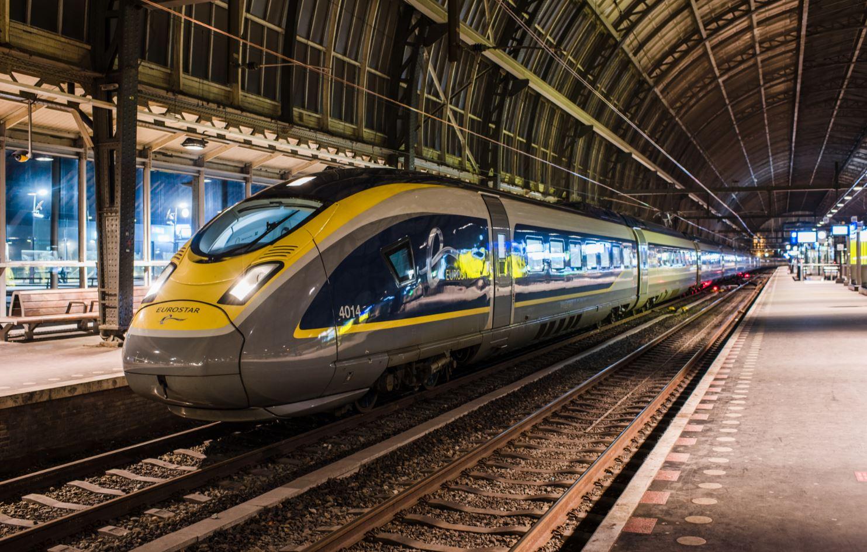 Eurostar in Amsterdam voor een testrit