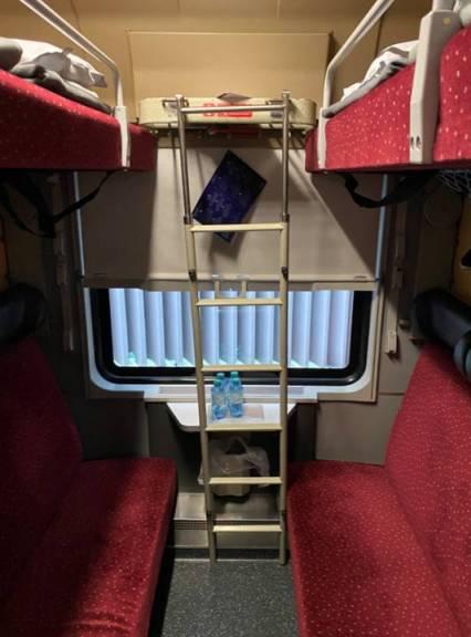Ligplaats in de Nightjet ©Noord West Express